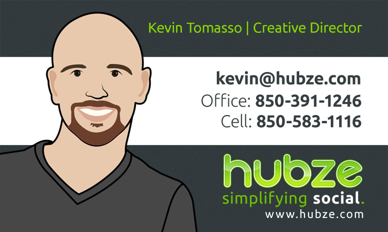 Better contrast business card